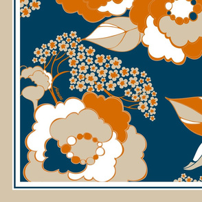 Rosetta Scarf - Tangerine