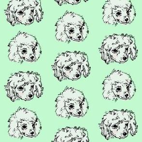 Poodle Pups | Mint | Large Scale