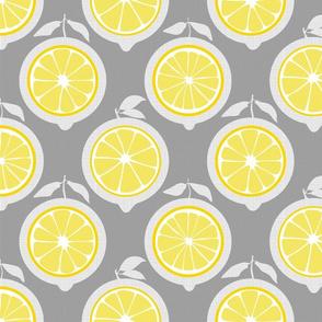 Julie's Yellow Lemon Grid M