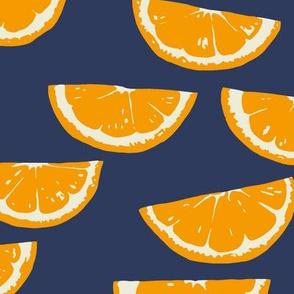 Summer Citrus - dark navy