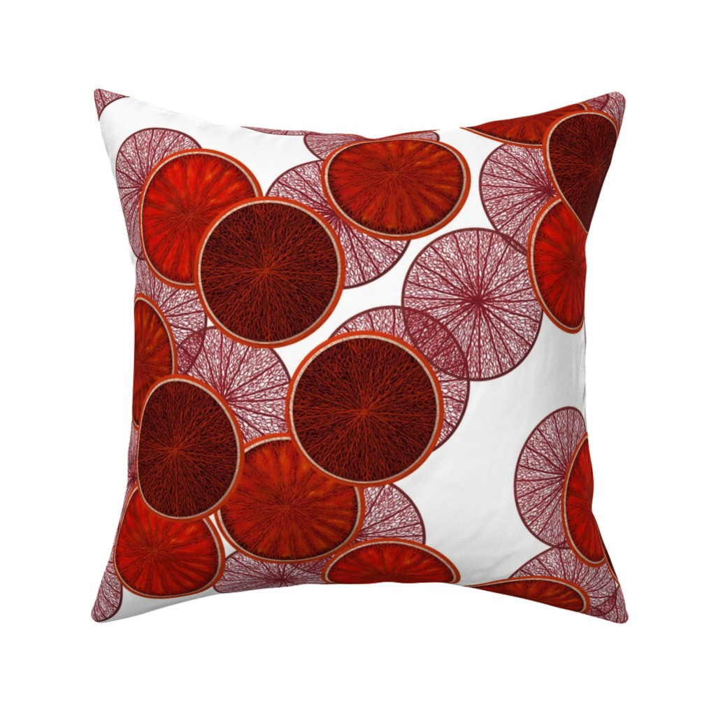 Catalan Throw Pillow featuring Blood oranges by Su_G by su_g