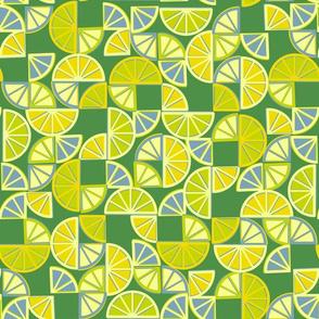geo citrus - lime colorway