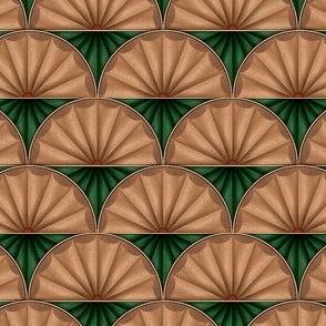 inlaid fan green