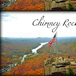 Above Chimneyr Rock and with Text