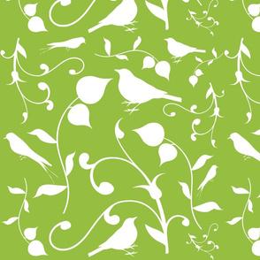 Swirly Bird Large Print Olive