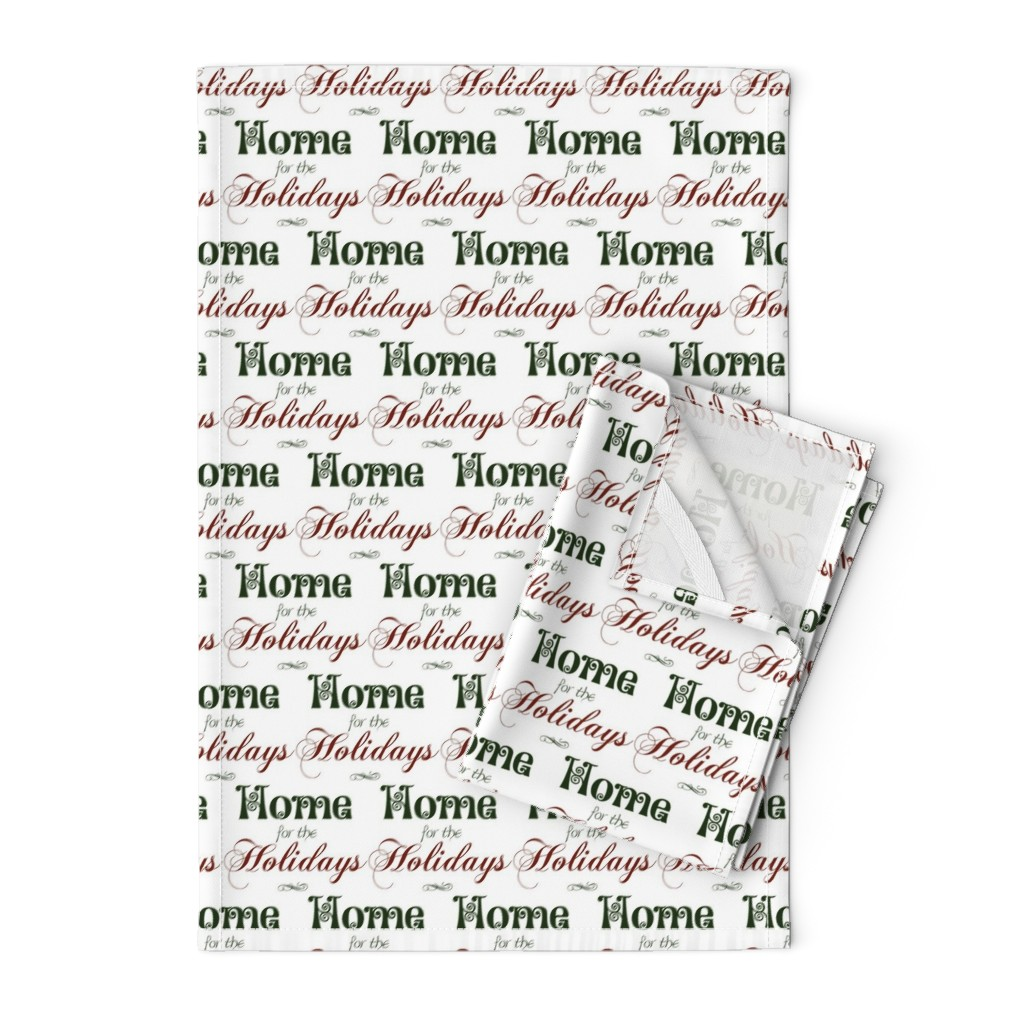 Orpington Tea Towels featuring Home for the Holidays by winter