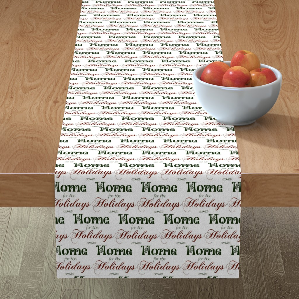 Minorca Table Runner featuring Home for the Holidays by winter