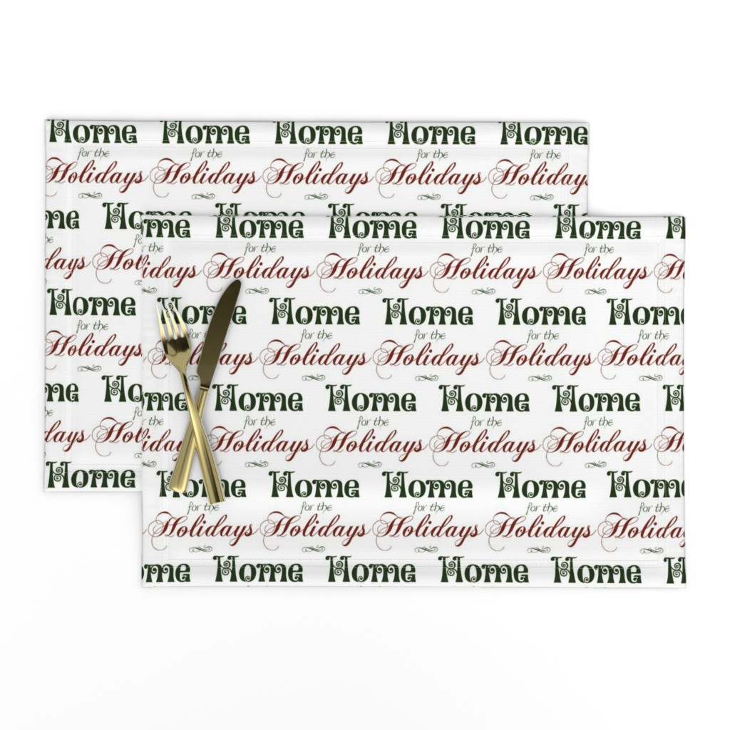 Lamona Cloth Placemats featuring Home for the Holidays by winter