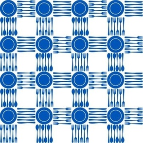 "picnic gingham 1/2"" in blue and white"
