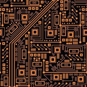 Evil Robot Circuit Board (Orange)