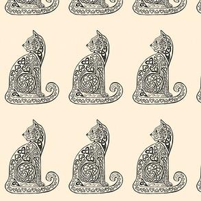 celtic cat 8 black/ivory