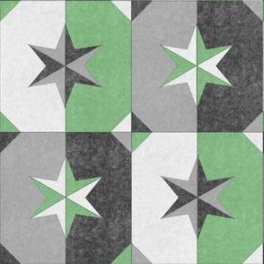 shade and shadow weathered stars green
