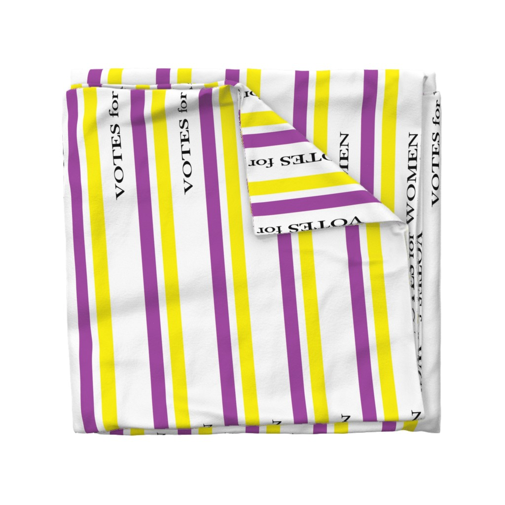 Wyandotte Duvet Cover featuring Suffragist Sash - Yellow and Violet by fentonslee