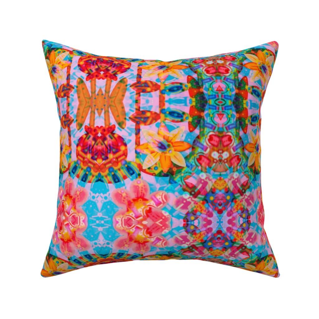 Catalan Throw Pillow featuring Moonflower by loriwierdesigns