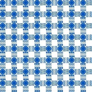 "picnic gingham 1/4"" in blue and white"