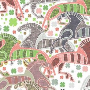 Nordic viking horses
