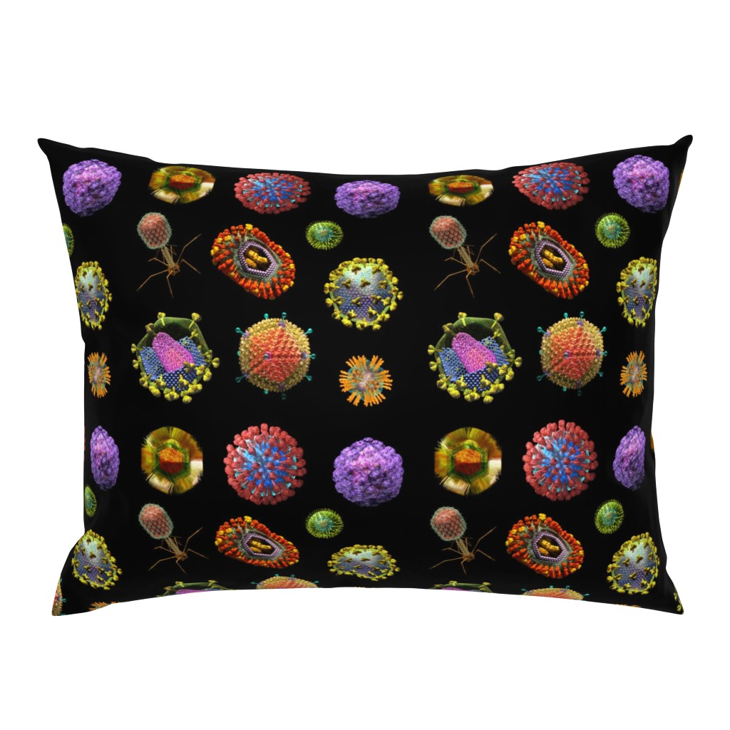 Campine Pillow Sham featuring VIRUS on BLACK Covid 19 Scrubs by kightleys