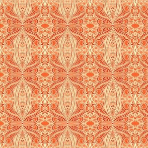 Orange Marmalade Paisley