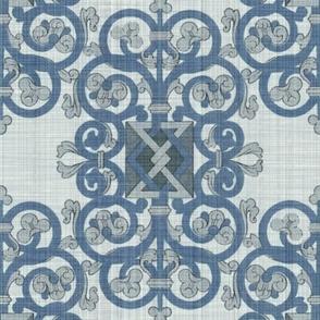 Celtic Knot ~ Blue Linen