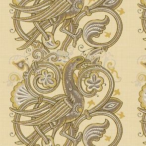 Celtic Bird ~ Beige Linen