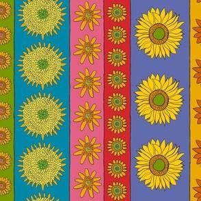 Sunflower Vertical Stripe Fabric