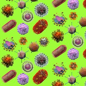 VIRUSES on green Virus Montage