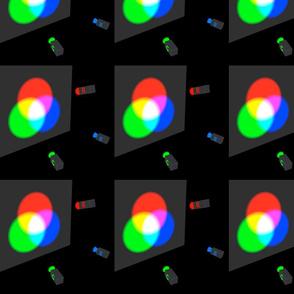 colour mixing of light, RGB