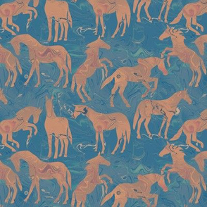 Inlaid Marble Horses