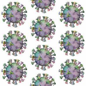 Coronavirus Polka Covid Scrubs