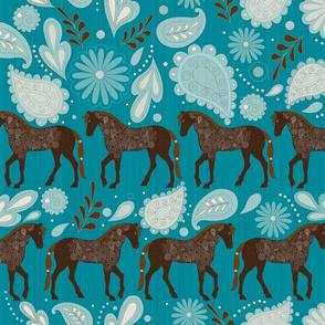 A Dance with horses Aqua