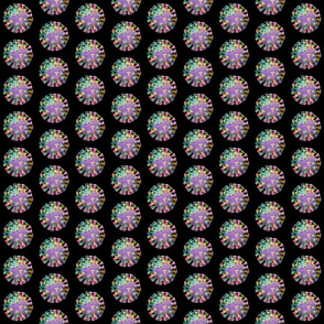 Coronavirus Rainbow Virus Polka Dot Covid Scrubs Tiny