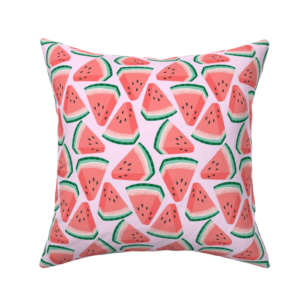 Catalan Throw Pillow featuring watermelon by kristinnohe