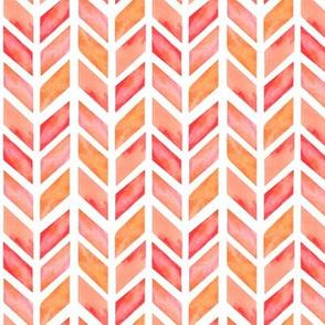 Watercolor Herringbone in Solid Pinks