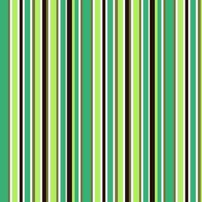 stripes shades of green