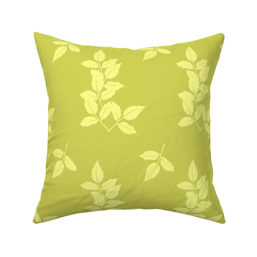 Catalan Throw Pillow featuring delphinium leaves large by karenharveycox