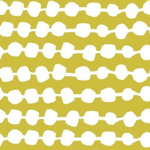 Dots in Rows - Mustard by Andrea Lauren