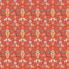 dala_horse_paste multico_rouge_S