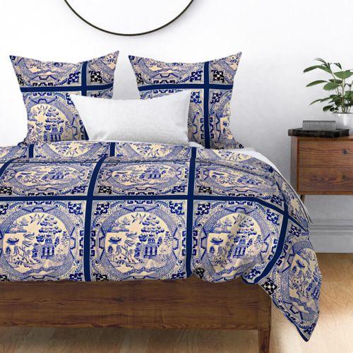 Tissus Colorés Imprimés Numériquement Par Spoonflower Willow Pillow
