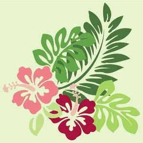 Hibiscus (Green Background)