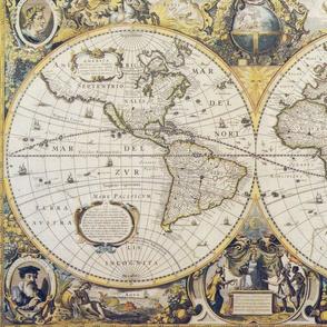 Antique map, borderless