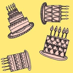 Cakes - pink & yellow