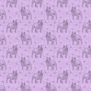 French Bulldog stamp - purple