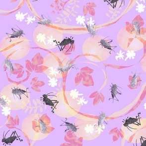 Crickets in violet