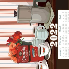 2020 Community Coffee Calendar Towel