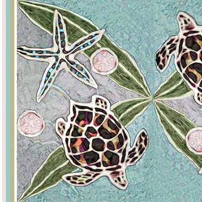 Sea Turtles & Kelp Batik
