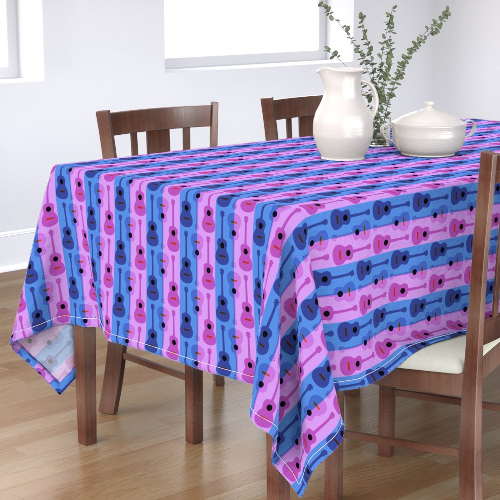 Bantam Rectangular Tablecloth featuring oh yikes, ukes by vo_aka_virginiao