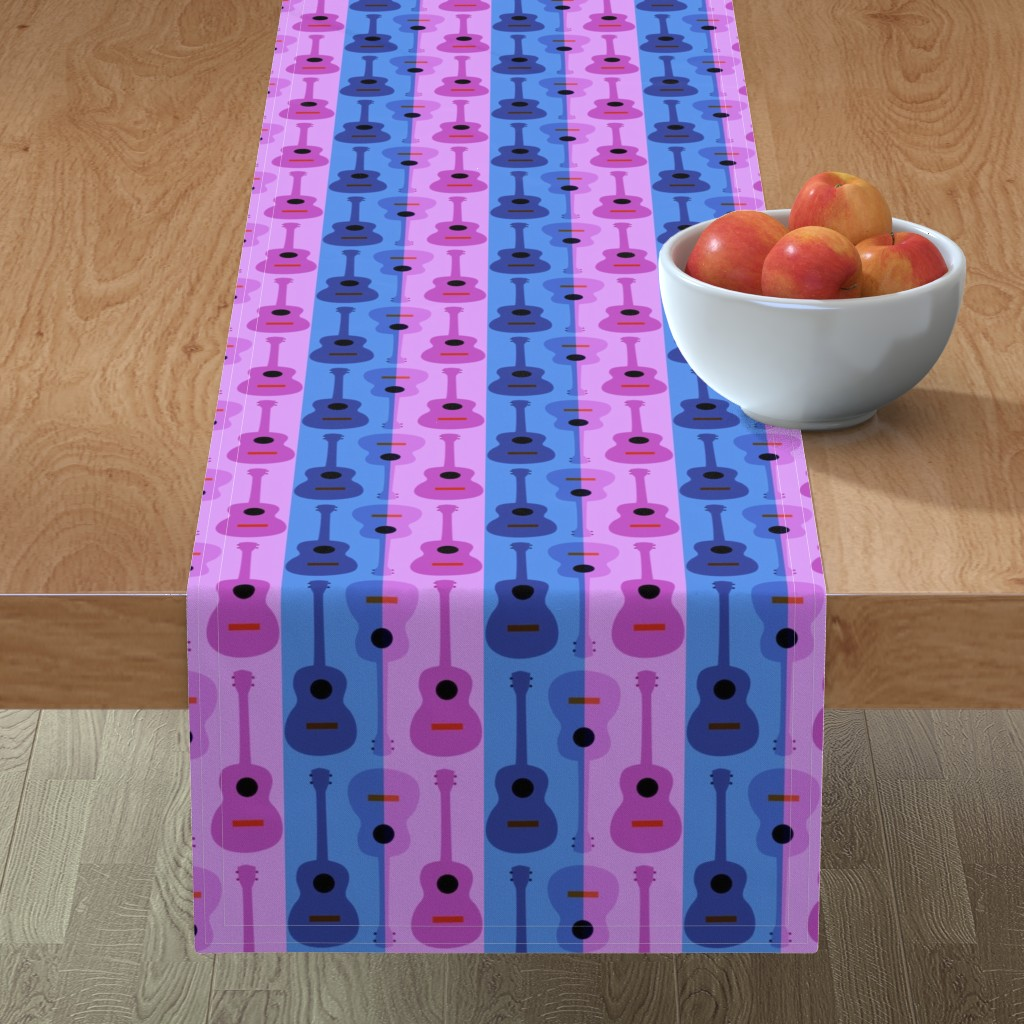 Minorca Table Runner featuring oh yikes, ukes by vo_aka_virginiao