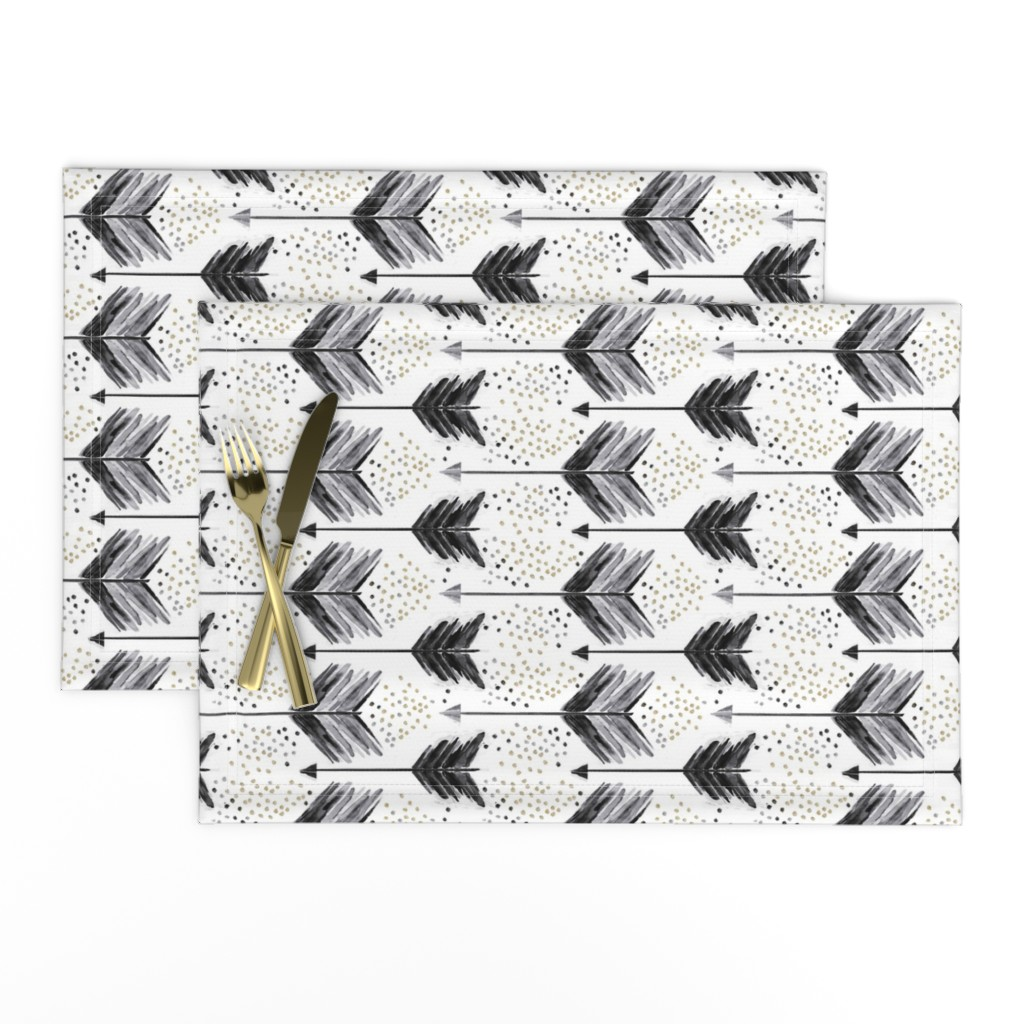 Lamona Cloth Placemats featuring A Shot in Black by emilysanford