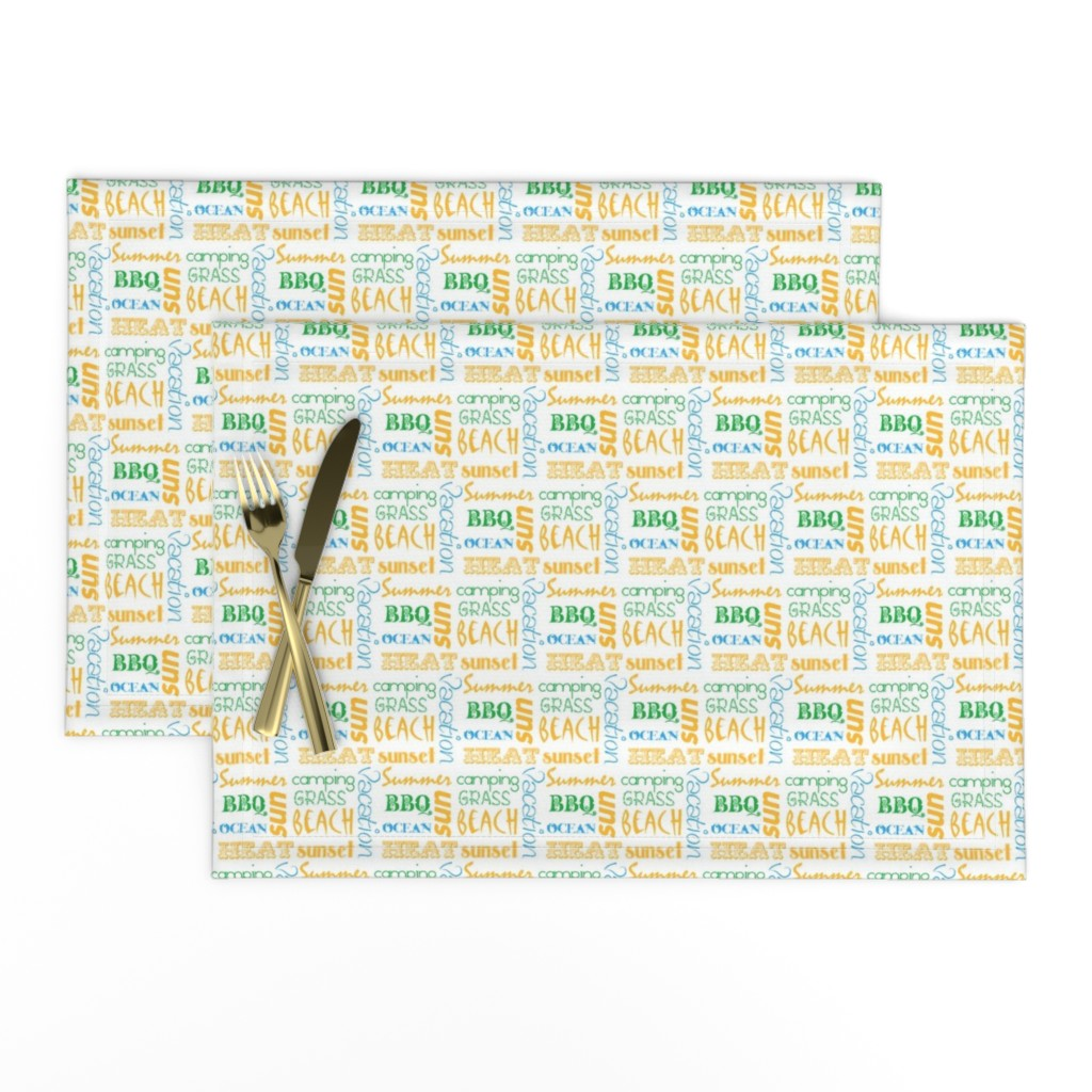 Lamona Cloth Placemats featuring summerwords by winter