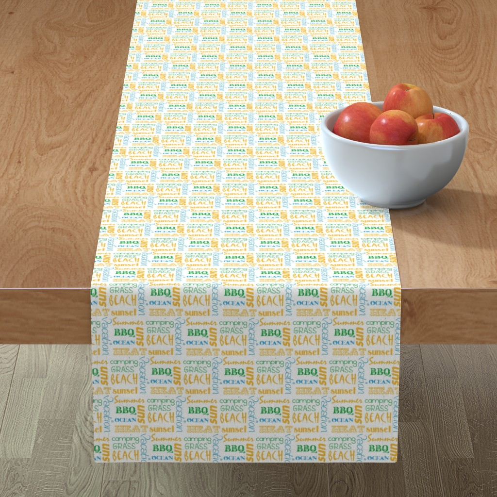 Minorca Table Runner featuring summerwords by winter
